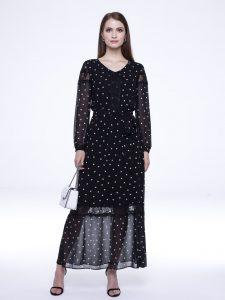 Eleganckie sukienki na wiosnę w groszki