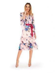 Eleganckie sukienki na wiosnę w kwiaty