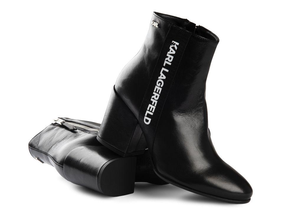 czarne botki Karl Lagerfeld